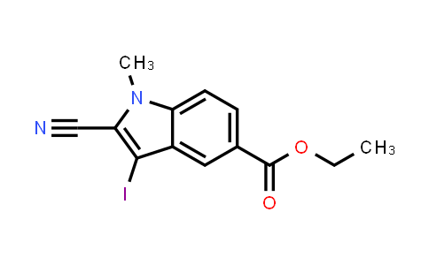 Ethyl 2-cyano-3-iodo-1-methyl-1H-indole-5-carboxylate