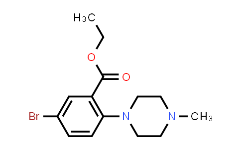 5-bromo-2-(4-methyl-1-piperazinyl)benzoic acid ethyl ester