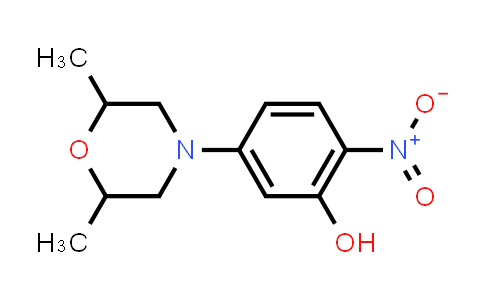 5-(2,6-dimethyl-4-morpholinyl)-2-nitrophenol