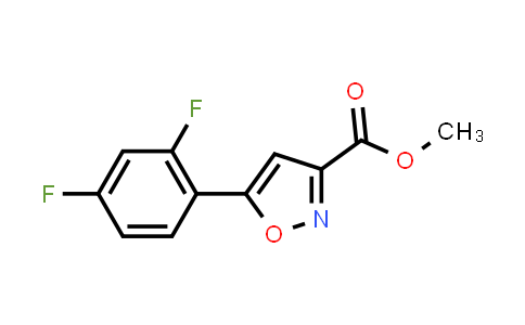 Methyl 5-(2,4-difluorophenyl)isoxazole-3-carboxylate