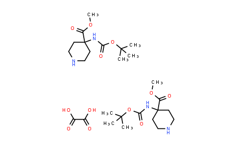 Methyl 4-((tert-butoxycarbonyl)amino)piperidine-4-carboxylate oxalate(2:1)