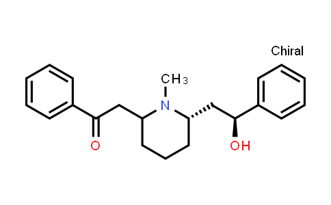 2-[(6S)-6-[(2S)-2-hydroxy-2-phenylethyl]-1-methyl-2-piperidinyl]-1-phenylethanone